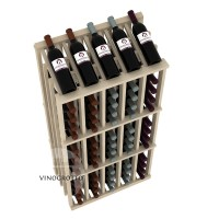 Retail Value Series - 65 Bottle Half Aisle Commercial Display - Pine