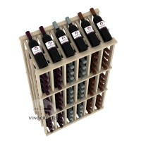 Retail Value Series - 78 Bottle Half Aisle Commercial Display - Pine
