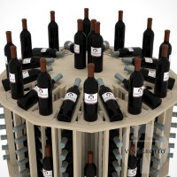 Retail Value Series - 204 Bottle Commercial Round Aisle Display - Pine