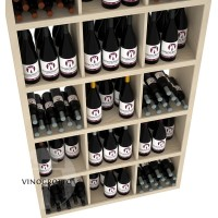 Retail Value Series - Commercial Rectangular Wine Bin and Shelf - 240 Bottles - Pine