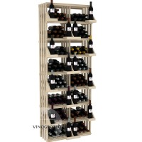 Retail Value Series - 208 Bottle Retail Wall Display - Pine Showcase