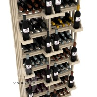 Retail Value Series - 208 Bottle Retail Wall Display - Pine
