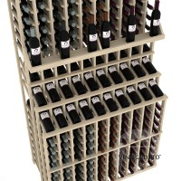 Retail Value Series - 300 Bottle Triple Tier Wine Display with Double Deep Base - Pine