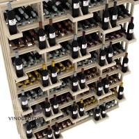 Retail Value Series - 416 Bottle Retail Wall Display - Pine