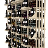 Retail Value Series - 520 Bottle Retail Wall Display - Pine