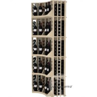 Retail Value Series - Commercial 6 Column Curved Corner Wall Display - Pine