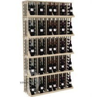 Retail Value Series - 240 Bottle Commercial Wall Display with 5 Shelves - Pine Showcase