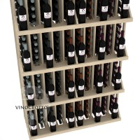 Retail Value Series - 240 Bottle Commercial Wall Display with 5 Shelves - Pine