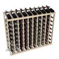 90 Bottle Display Top Wine Rack - Pine Showcase
