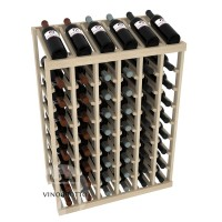 54 Bottle Display Top Wine Rack - Pine Showcase