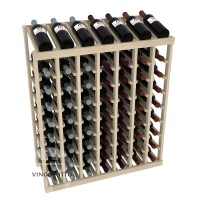 63 Bottle Display Top Wine Rack - Pine Showcase