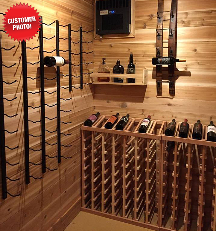 5 Bottle Barrel Stave Wall Wine Rack Vino Grotto