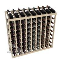 81 Bottle Display Top Wine Rack - Pine Showcase