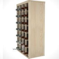 28 Bottle Magnum Premium Table Wine Rack - Pine