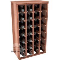 28 Bottle Magnum Premium Table Wine Rack - Redwood Showase