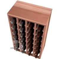 28 Bottle Magnum Premium Table Wine Rack - Redwood