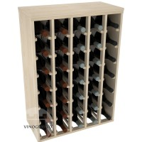 35 Bottle Magnum Premium Table Wine Rack - Pine Showase