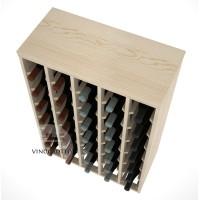 35 Bottle Magnum Premium Table Wine Rack - Pine