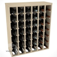 42 Bottle Magnum Premium Table Wine Rack - Pine Showase