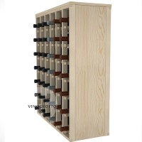 42 Bottle Magnum Premium Table Wine Rack - Pine
