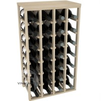 28 Bottle Magnum Table Wine Rack - Pine Showase