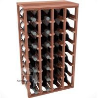 28 Bottle Magnum Table Wine Rack - Redwood Showase