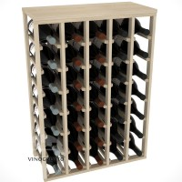 35 Bottle Magnum Table Wine Rack - Pine Showcase