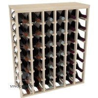 42 Bottle Magnum Table Wine Rack - Pine Showcase