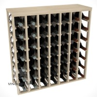 49 Bottle Magnum Table Wine Rack - Pine Showcase