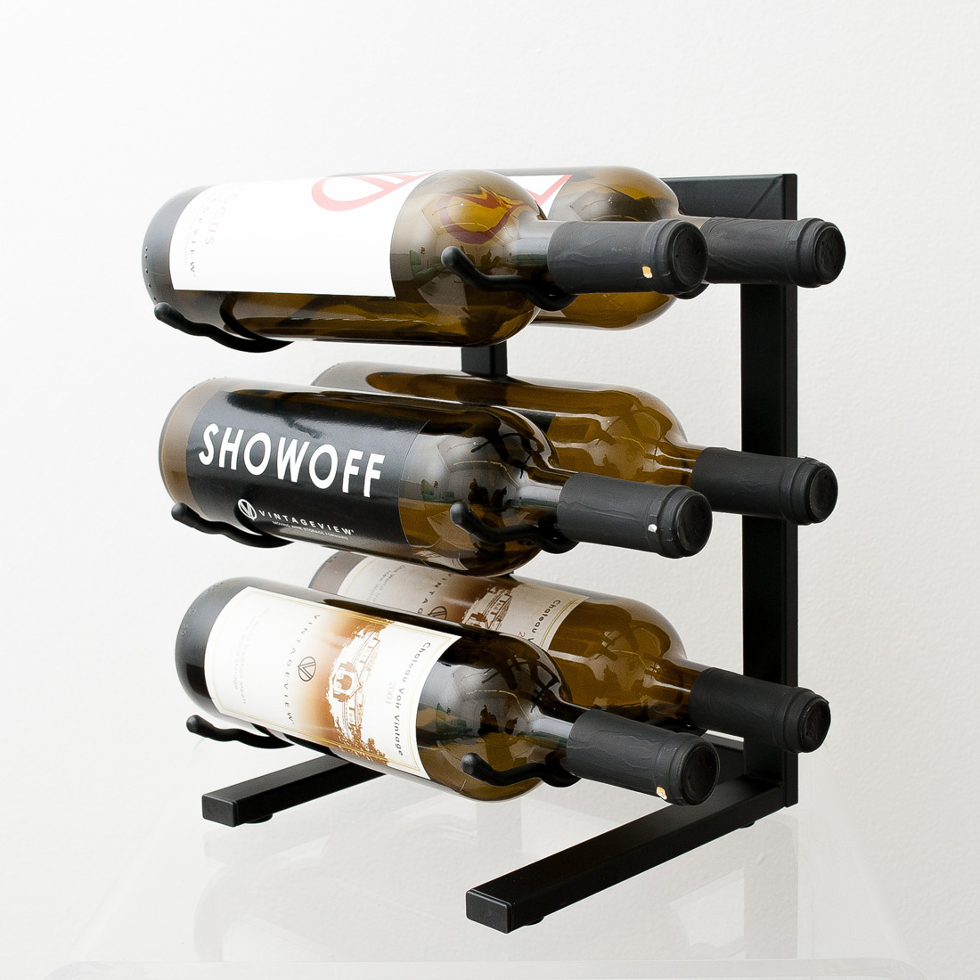 Vintageview Mini 6 Bottle Tabletop Wine Rack Vino Grotto