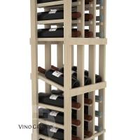 American Series 3 Column Display Cellar Rack - 6 Foot - Pine Detail