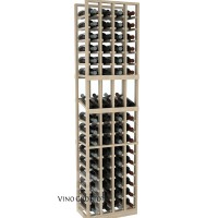 American Series 4 Column Display Cellar Rack - 6 Foot - Pine Showcase