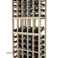 American Series 5 Column Display Cellar Rack - 6 Foot - Pine Detail