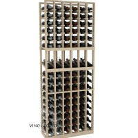 American Series 6 Column Display Cellar Rack - 6 Foot - Pine Showcase