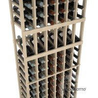 American Series 6 Column Display Cellar Rack - 6 Foot - Pine Detail