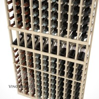 American Series 9 Column Display Cellar Rack - 6 Foot - Pine Detail