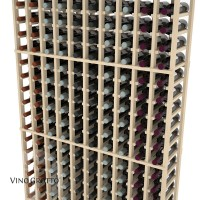 American Series 10 Column Standard Cellar Rack - 6 Foot - Pine Detail