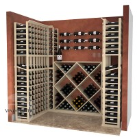 Home Collector 6-Foot Display Cellars in a closet - Pine