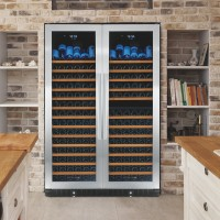 N'FINITY PRO HDX 332 Double Door Triple Zone Wine Cellar (Stainless Steel Trim)