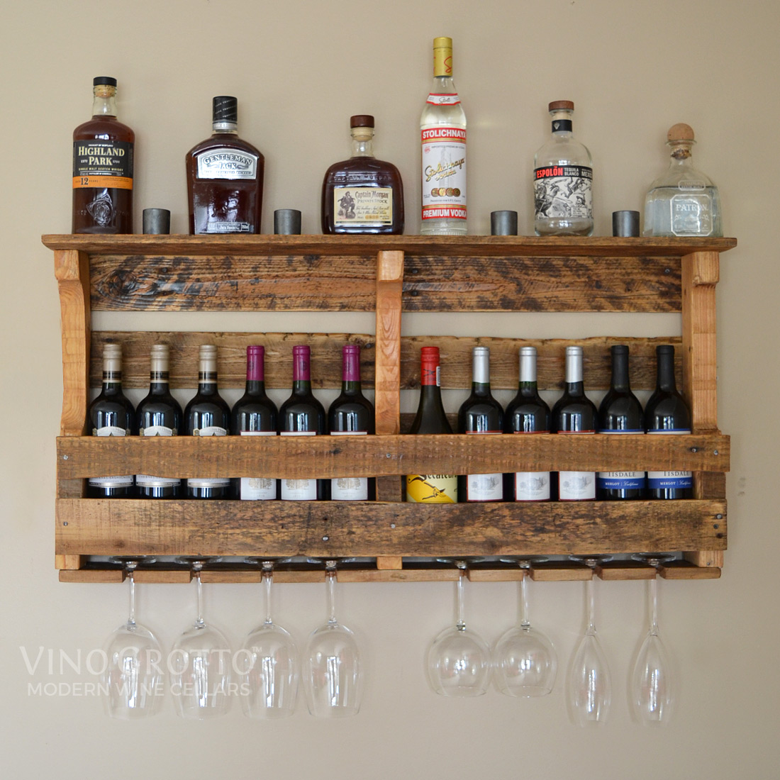 Home collector series wine racks by vino grotto for Pallet wine cabinet