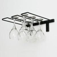 Vintage View WS-SR - 6 Glass Stemware Rack - Satin-Black Showcase