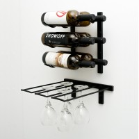 Vintage View WS-SR - 6 Glass Stemware Rack - Satin-Black