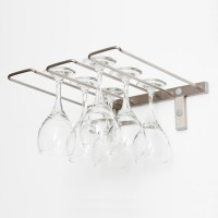 Vintage View WS-SR - 6 Glass Stemware Rack - Brushed-Nickel Showcase