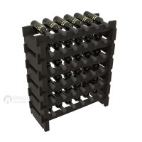 Vino Grotto 36 Bottle Short Scalloped Wine Rack Set - Pine Ebony-Stain Showcase