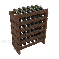 Vino Grotto 36 Bottle Short Scalloped Wine Rack Set - Pine Walnut-Stain Showcase