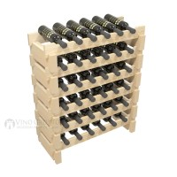 Vino Grotto 36 Bottle Short Scalloped Wine Rack Set - Pine Showcase