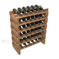 Vino Grotto 36 Bottle Short Scalloped Wine Rack Set - Redwood Showcase