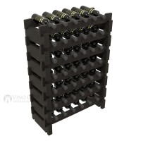 Vino Grotto 42 Bottle Short Scalloped Wine Rack Set - Pine Ebony-Stain Showcase
