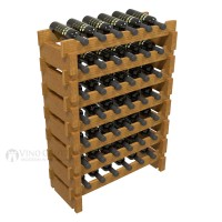 Vino Grotto 42 Bottle Short Scalloped Wine Rack Set - Pine Oak-Stain Showcase