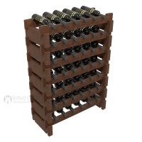 Vino Grotto 42 Bottle Short Scalloped Wine Rack Set - Pine Walnut-Stain Showcase